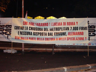 ROMA Cinema soppressi & speculazioni
