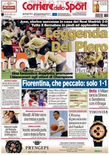 CALCIO Del Piero, cinquina Real