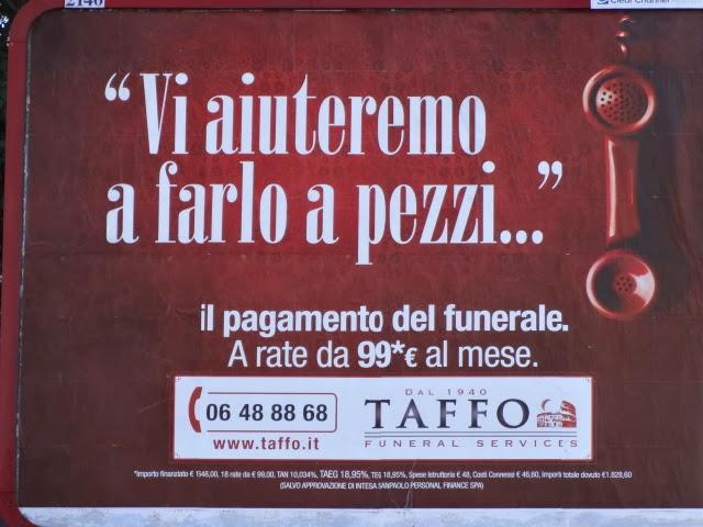 ROMA Funerale prepagato? Crepa!