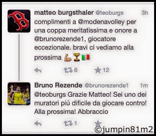 VOLLEY Scambio di complimenti tra Burgsthaler e Bruno: quando la pallavolo cinguetta