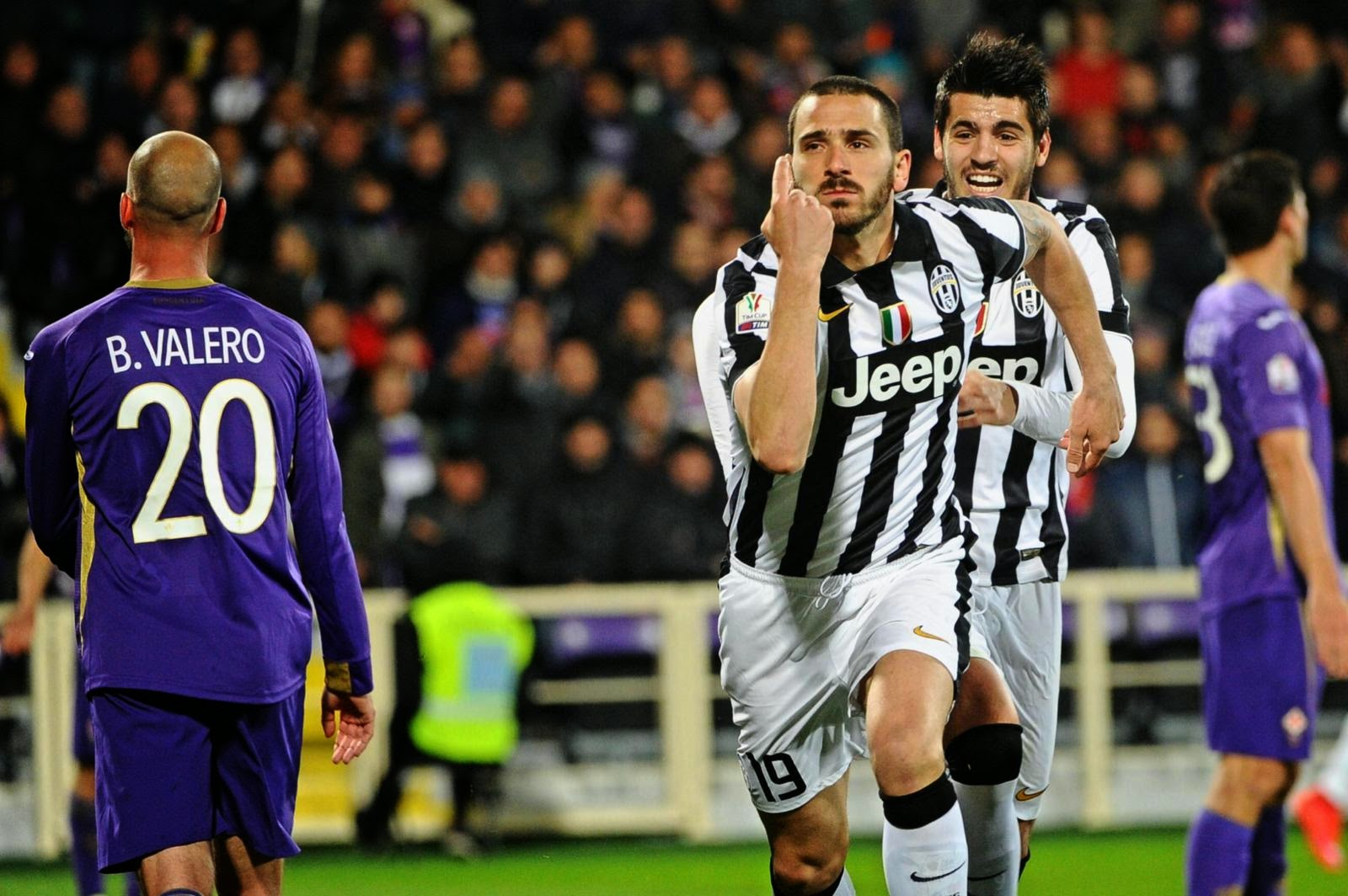 CALCIO Juventus, tutti Allegri per lo show a Firenze