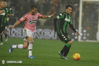 CALCIO Sassuolo-Juventus 1-0, bianconeri irritanti, tartassati e fuori dai giochi