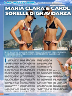 VOLLEY Maria Clara & Carol sorelle di gravidanza su iVolley n°127