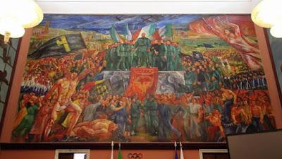 """SPORT e CULTURA Una petizione per coprire l'affresco """"Apoteosi del fascismo"""" nel Salone d'onore del Coni"""