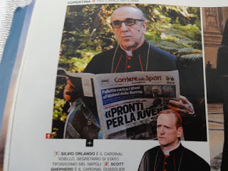 CINEMA Il Cardinal Voiello di Sorrentino, legge il Corriere dello Sport