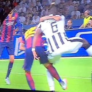 CALCIO Champions League: Dani Alves, ricordi il fallo da rigore su Pogba nella finale di Berlino?