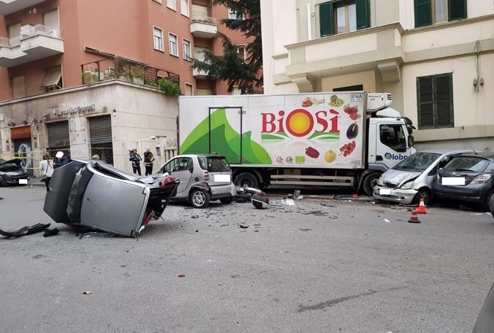 ROMA Camion Biosì, incidente mortale alla Balduina