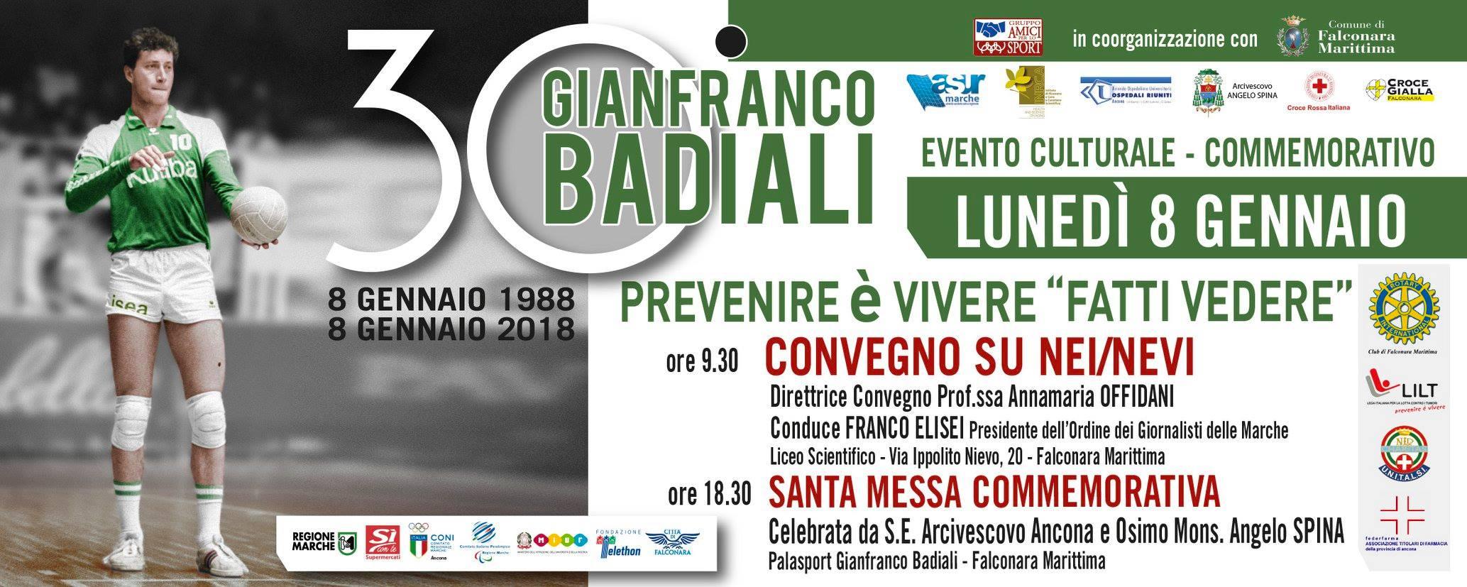 VOLLEY Gianfranco Badiali moriva 30 anni fa. Convegno a Falconara sui nei/nevi