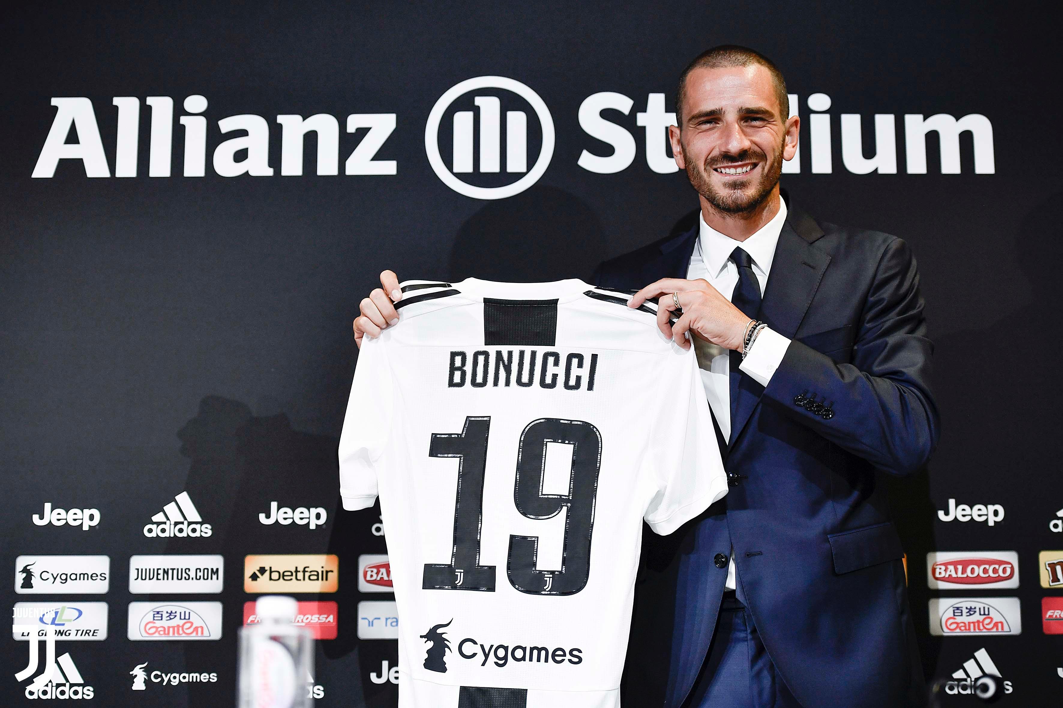 CALCIO Juventus, bentornato Bonucci