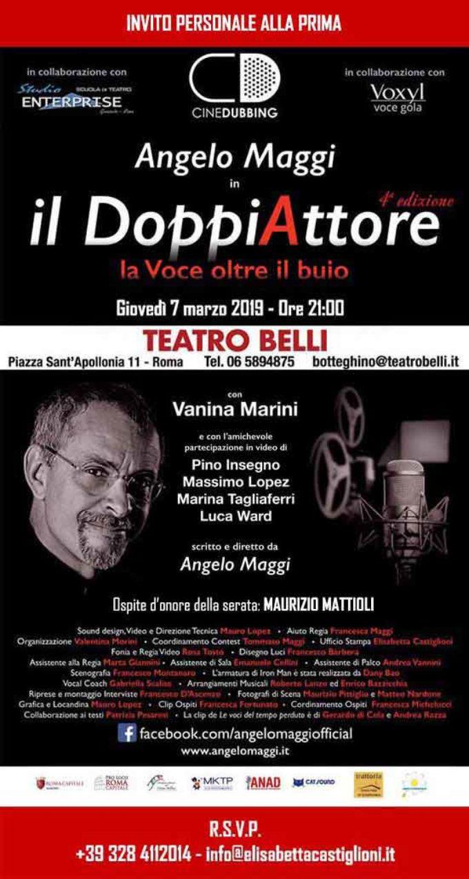 TEATRO Angelo Maggi, il DoppiAttore