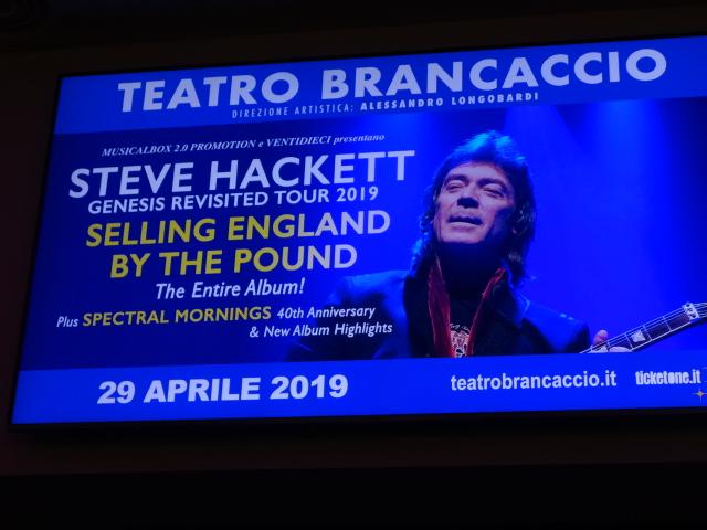 MUSICA Steve Hackett al Brancaccio