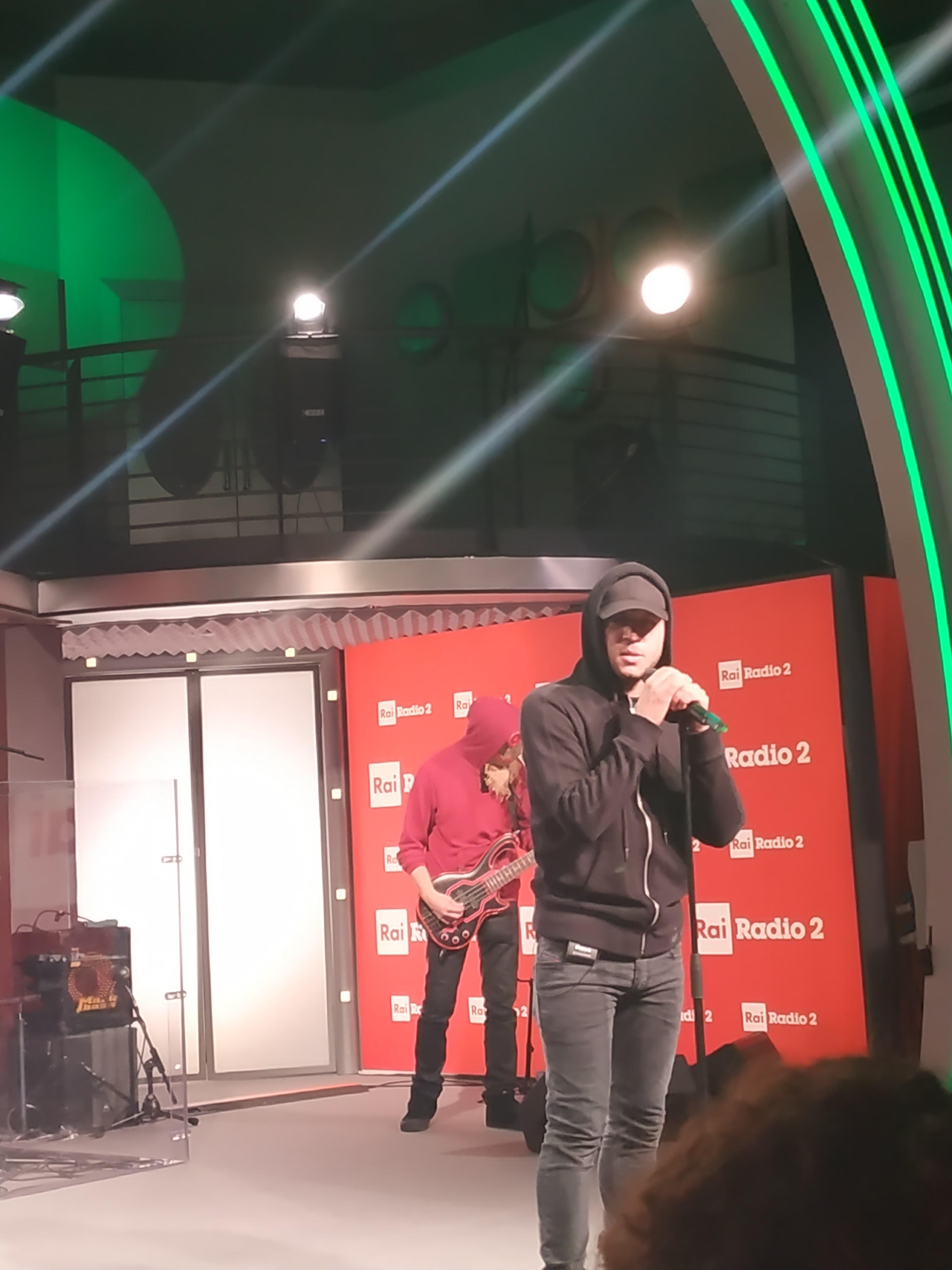 MUSICA Rancore live a Rai Radio 2
