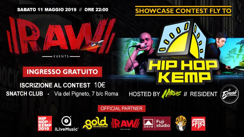 MUSICA Raw Events contest fly to Hip Hop Kemp