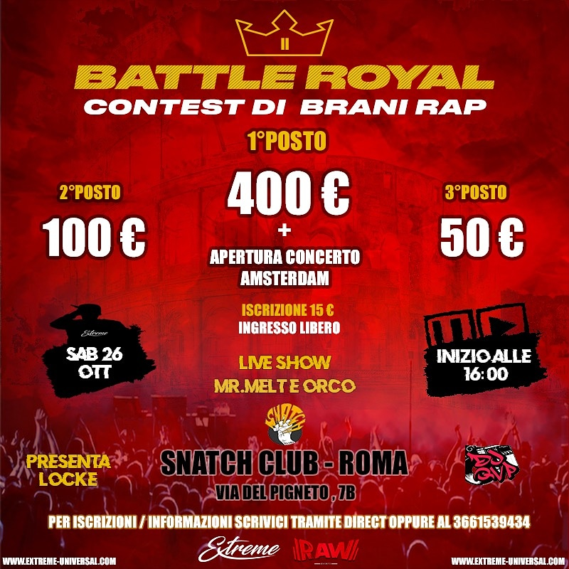 Battle Royal @Snatch Club di Roma