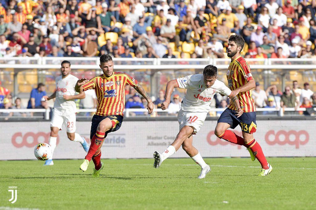 Lecce-Juventus, Dybala al tiro Foto Juventus.com