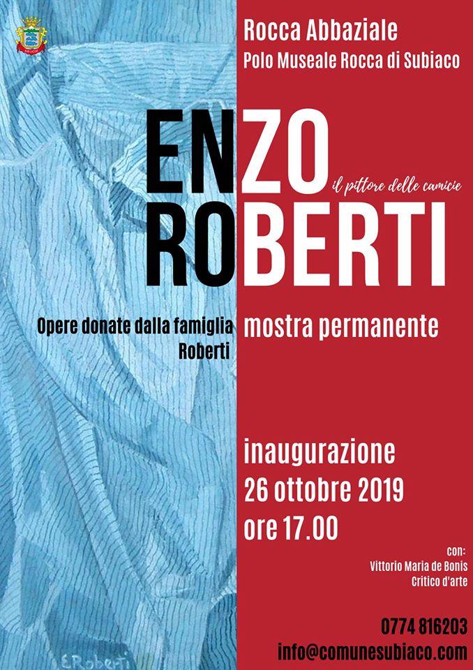 Enzo Roberti in mostra permanente a Subiaco VISTO DAL basso