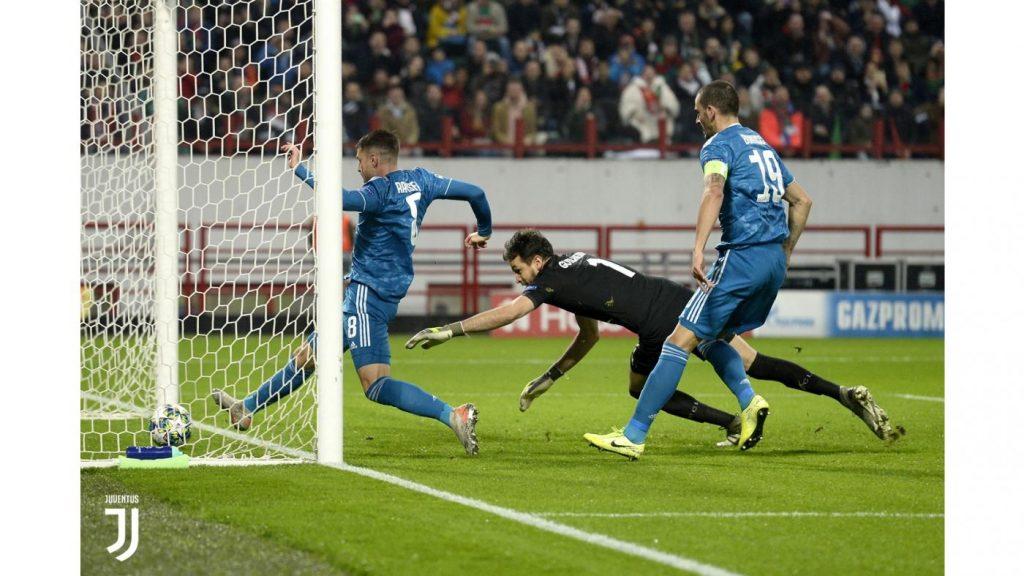 Lokomotiv-Juventus 1-2, il gol di Ramsey al 4' FOTO JUVENTUS.COM