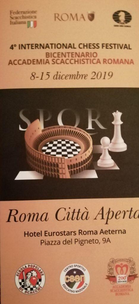 4° international chess festival Bicentenario Accademia scacchistica romana Roma Città Aperta