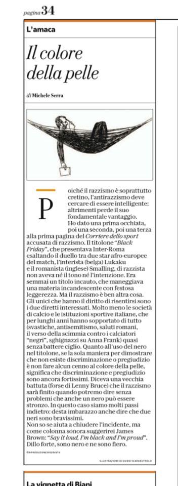 L'opinione di Michele Serra su La Repubblica