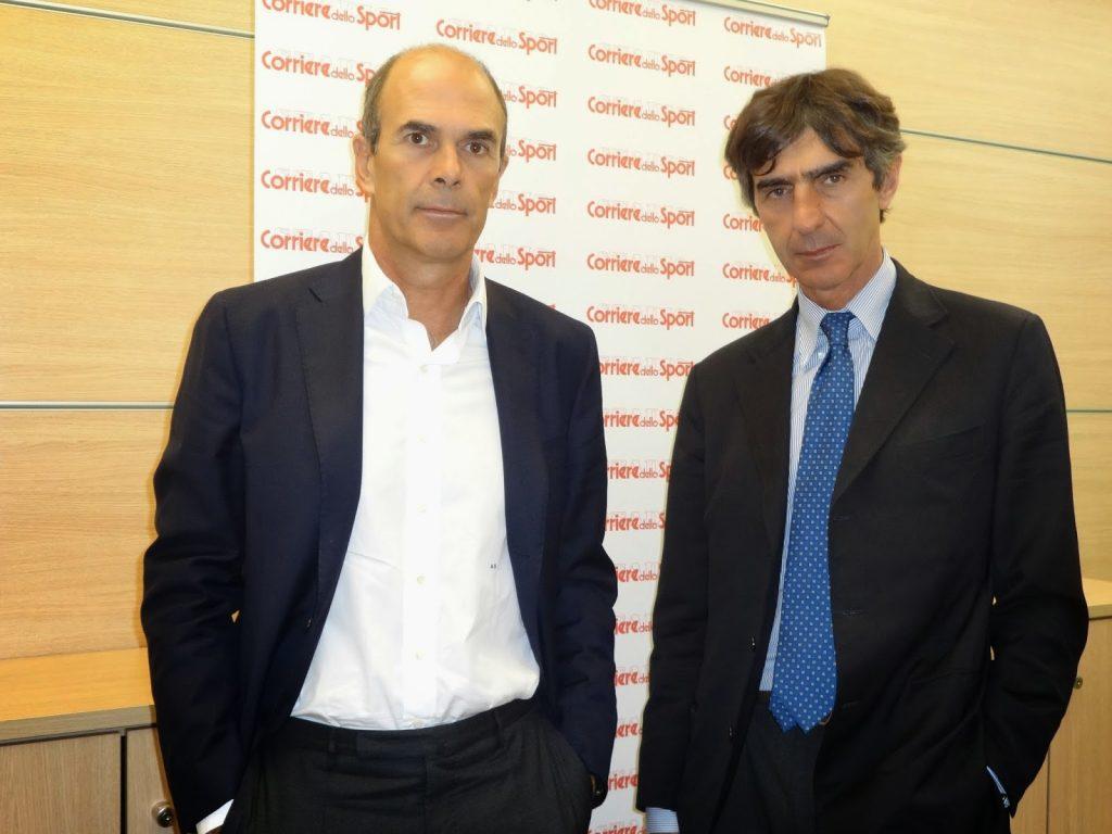 Andrea Scozzese e Armando Monini al Corriere dello Sport Foto Vistodalbasso,it