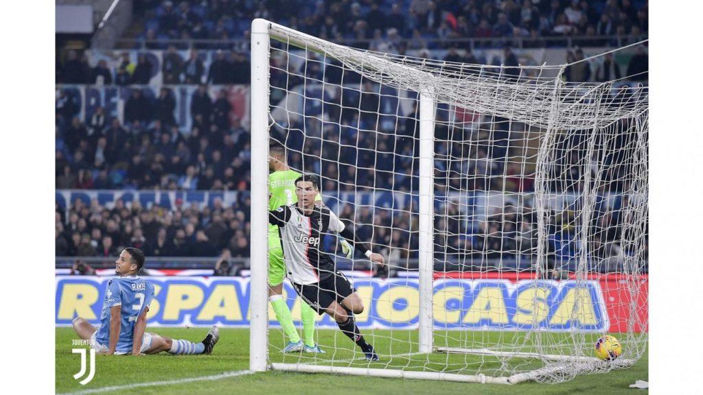Ronaldo ha appena segnato il gol dell'1-0 Foto Juventus.com