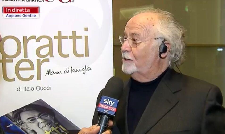 Italo Cucci alla presentazione del libro dedicato all'Inter