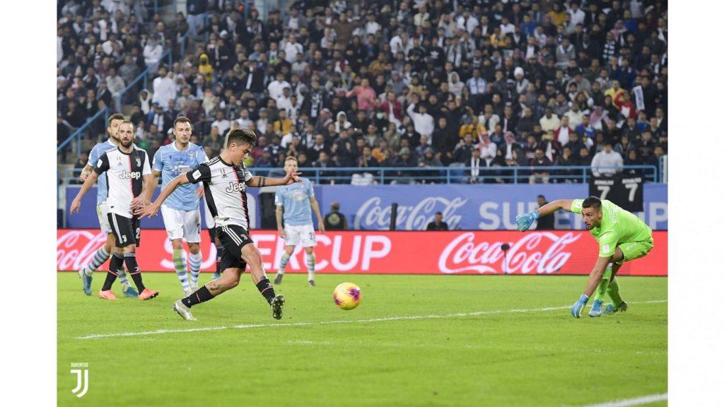 Il gol dell'1-1, firmato da Dybala Foto Juventus.com