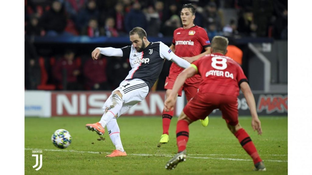 Bayer Leverkusen-Juventus 0-2. Il gol del 2-0 di Gonzalo Higuain Foto Juventus.com