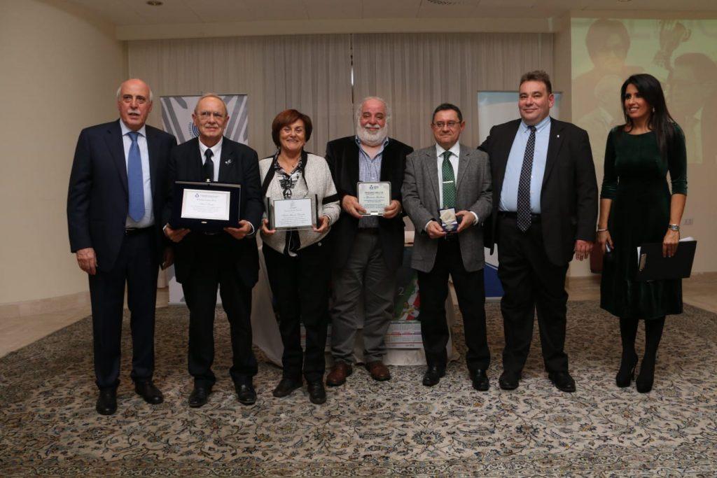 Premio Pietro Milita 2019: i premiati con Luciano Cecchi, Andrea Burlandi e Simona Rolandi