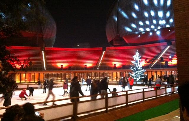 Ice Park di notte, all'Auditorium