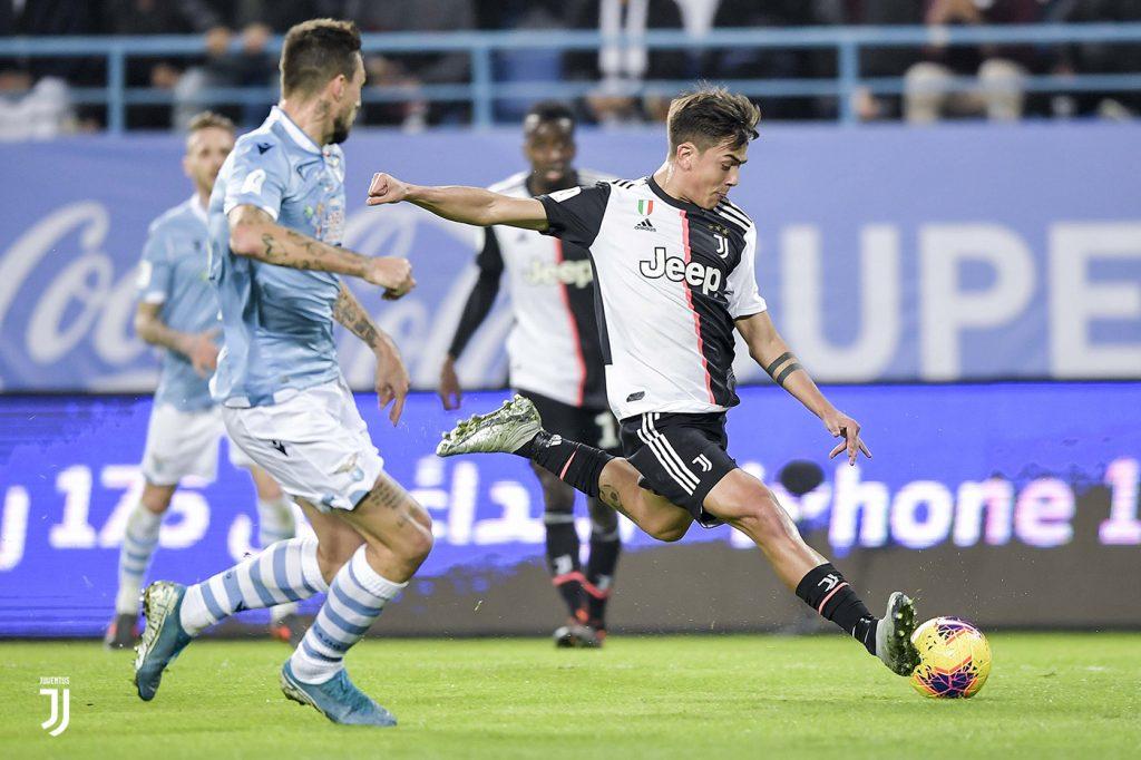 Lazio-Juventus 3-1, Supercoppa. Dybala in azione Foto Juventus.com