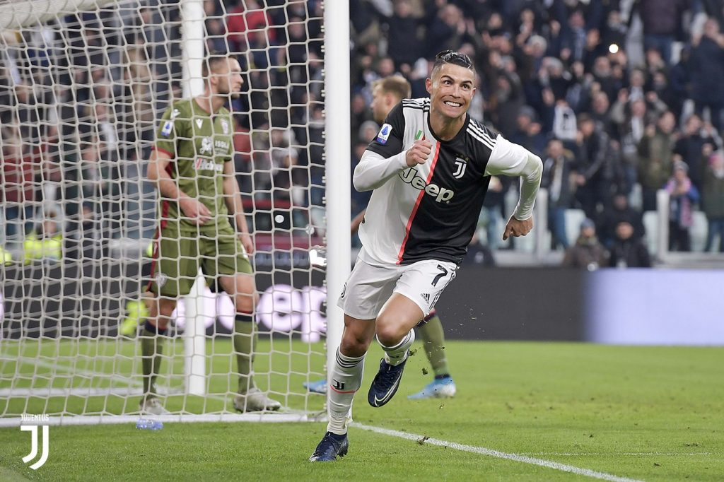 Cristiano Ronaldo esulta Foto Juventus.com