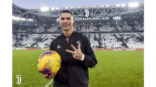 Juventus-Cagliari 4-0, Ronaldo prima tripletta