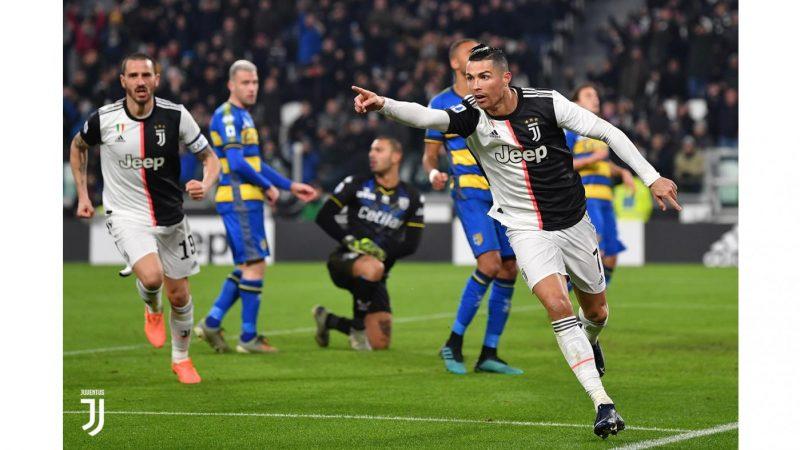 Juventus-Parma 2-1, doppio Ronaldo, +4 sull'Inter