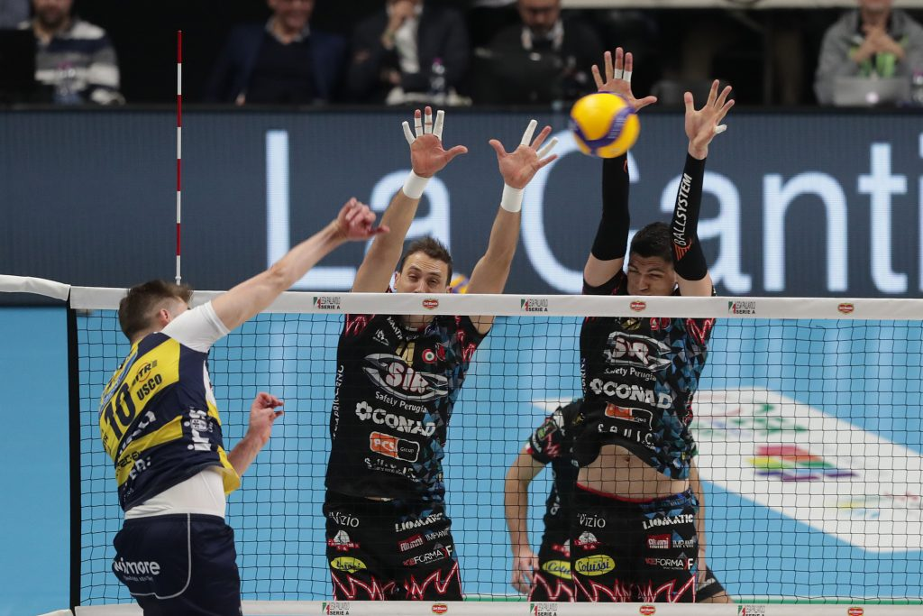 Sir Safety Perugia - Leo Shoes Modena. Foto Lega Pallavolo-ZANI