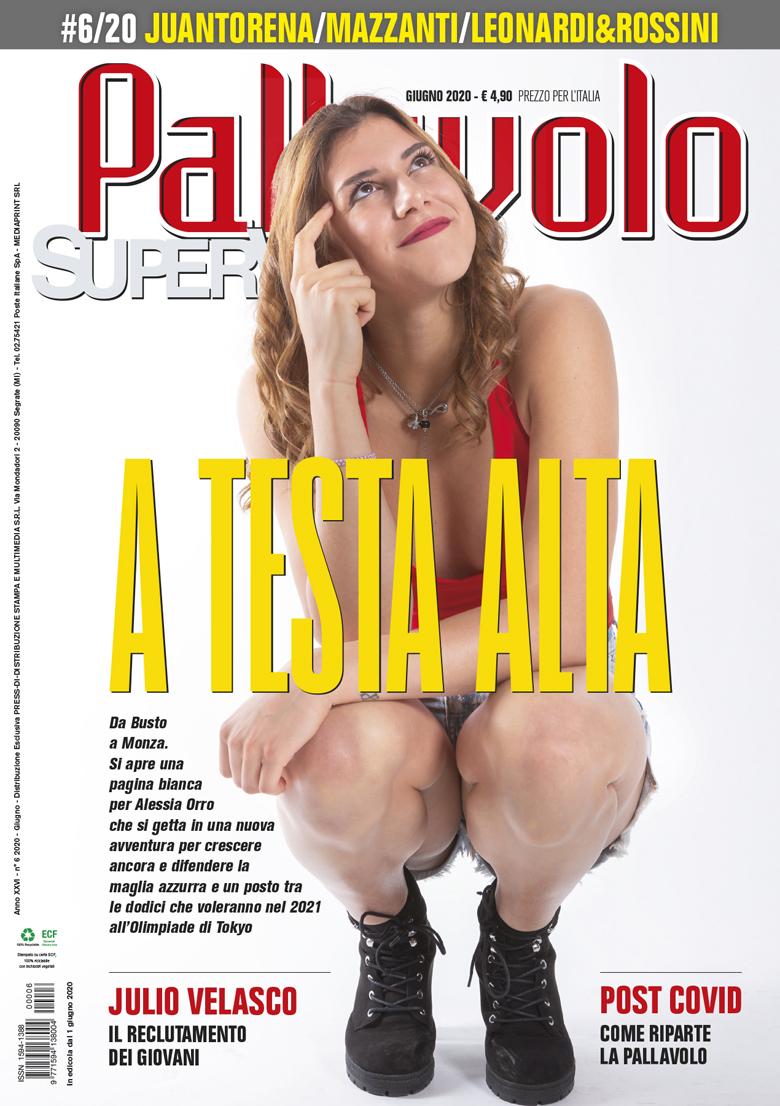Pallavolo Supervolley con Alessia Orro in copertina