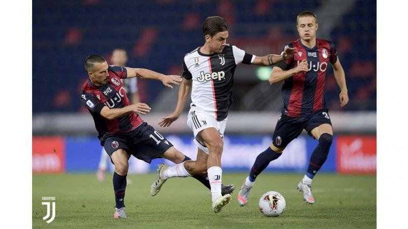 Bologna-Juventus 0-2, Ronaldo e Dybala rialzano la testa