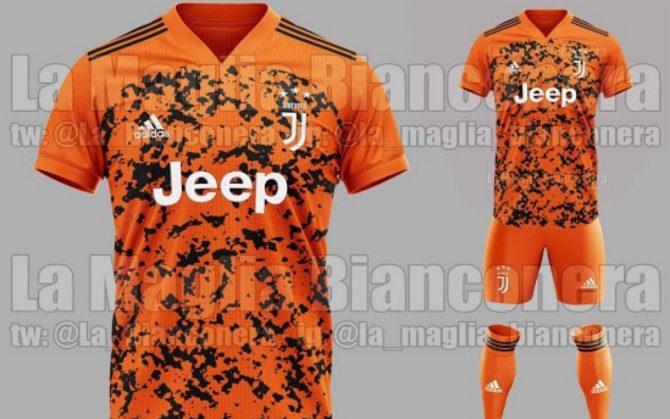 Juventus in arancione, la terza maglia 2020-21 - VISTO DAL basso